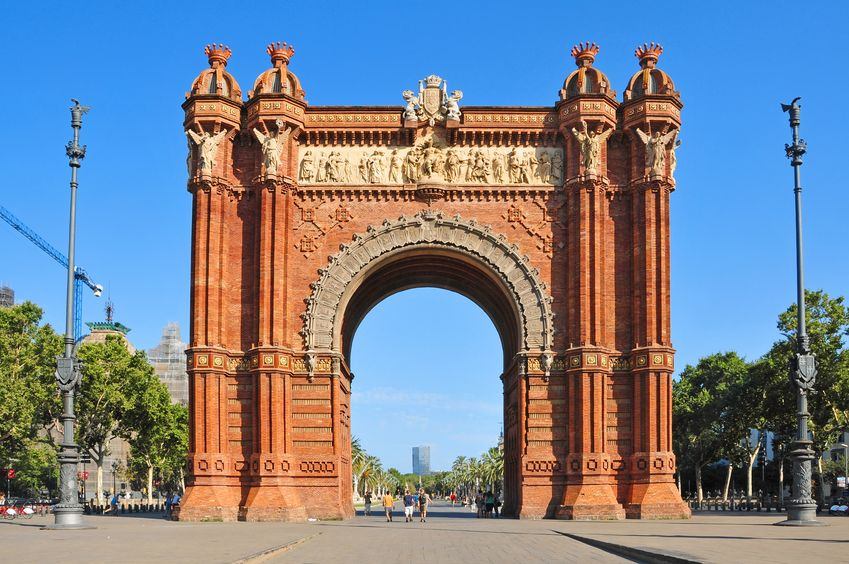 Arc de Triomf in Barcelona Spain