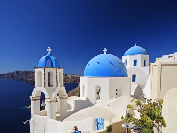 Travel Life List (Bucket List) Santorini Blue Roof