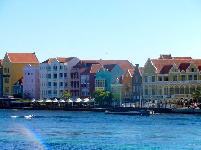 One year of full time travel - Curacao Island Caribbean Colorful Buildings