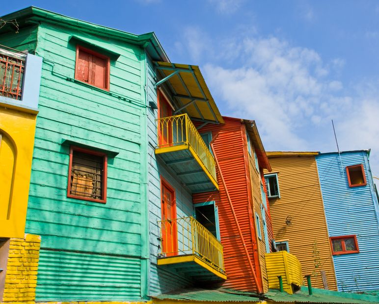 We had a dream and we made it happen – La Boca Buenos Aires Argentina Colorful Buildings