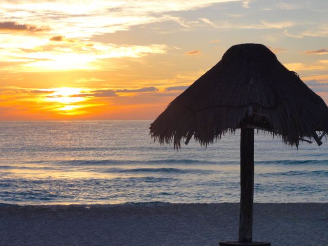 One year of full time travel - Cancun Mexico Sunrise