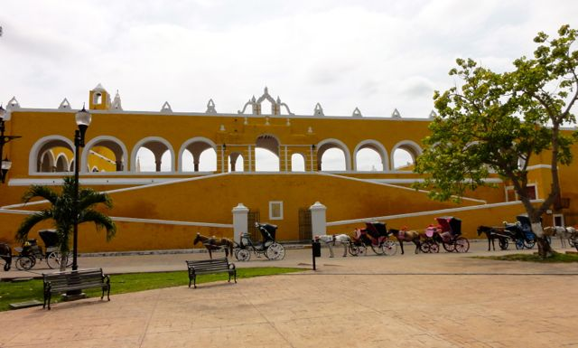 The Yellow City Colorful Buildings Izamal Mexico