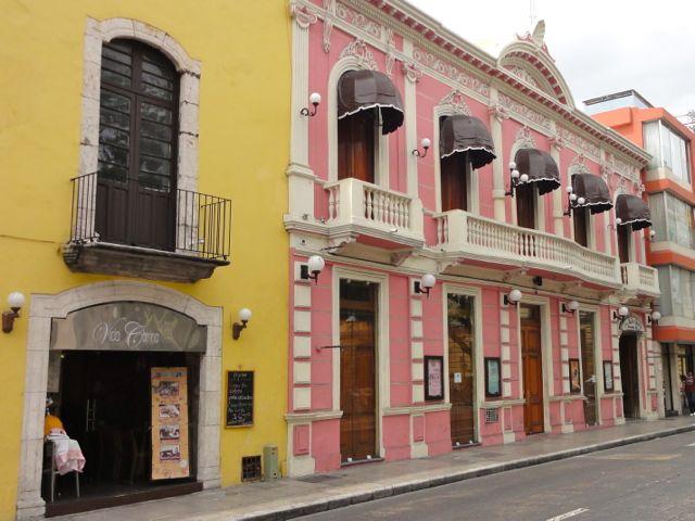 Merida Mexico Colorful Buildings