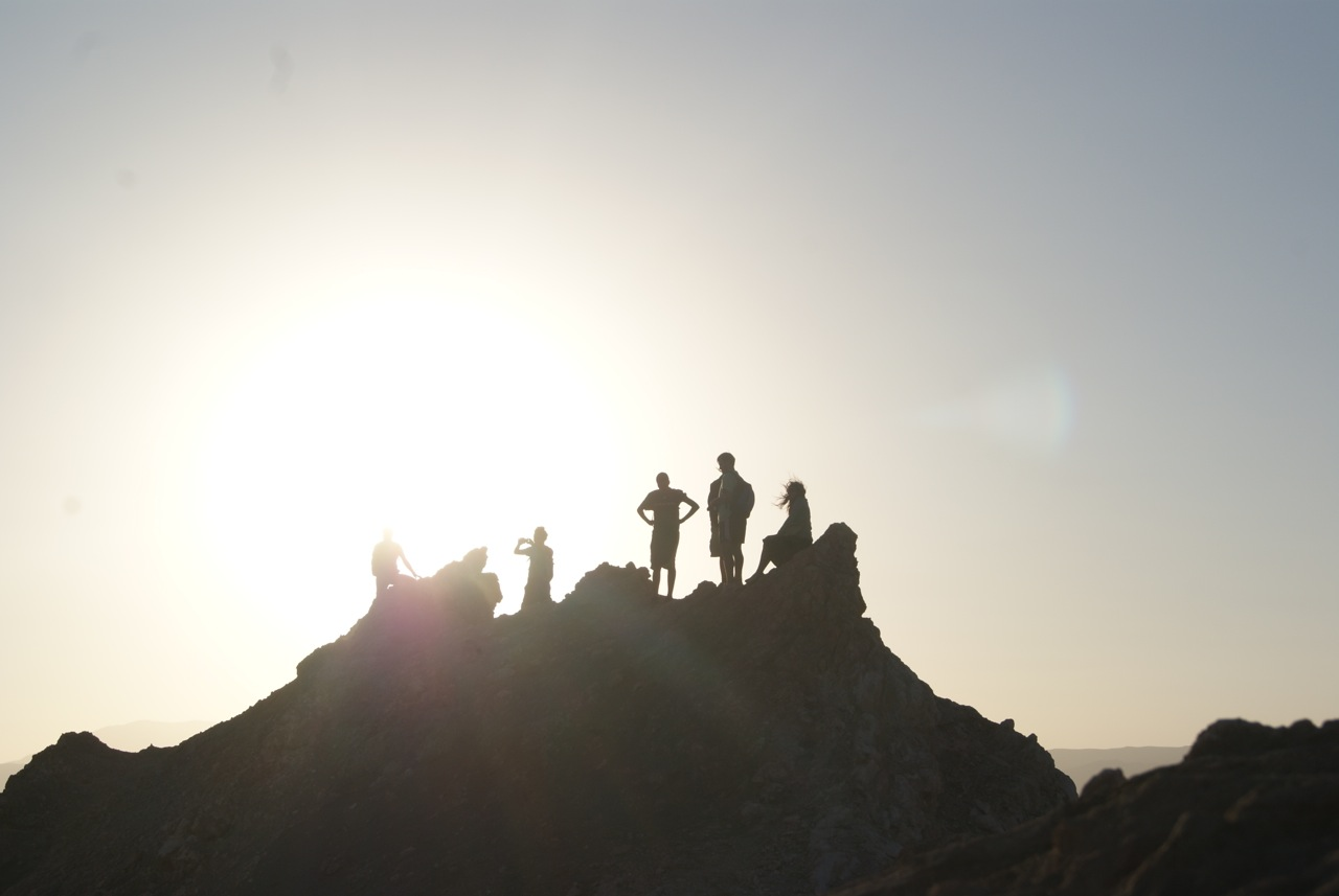 The sunset in the Atacama Desert in Chile is phenomenal, and our trekking group got to the top of this hill to witness it