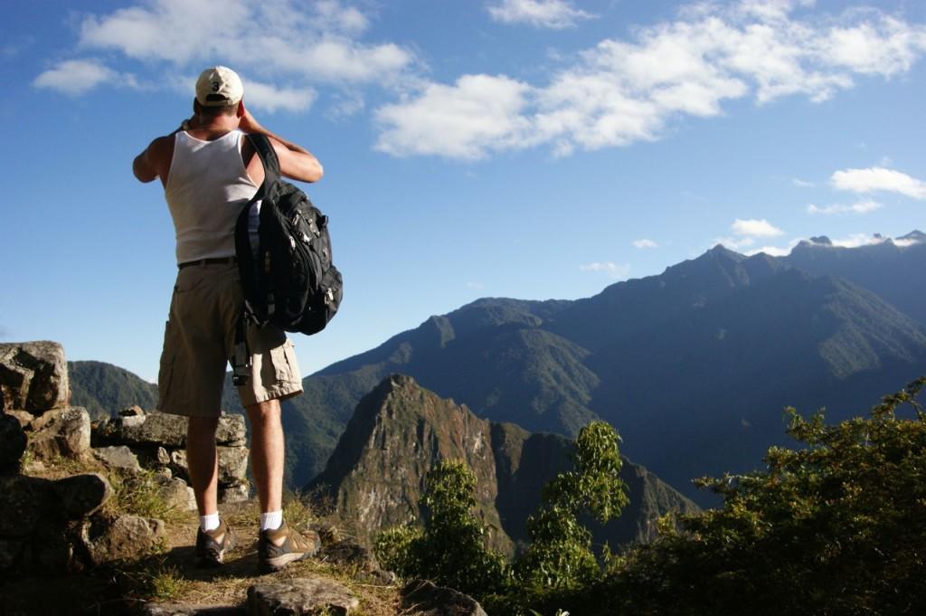 Hiker Machu Micchu Peru