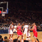 Watching a NBA Game at Madison Square Garden