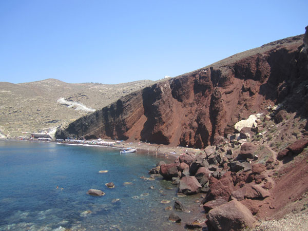 Best Things to do in the Greek Islands - Red Sand Beach