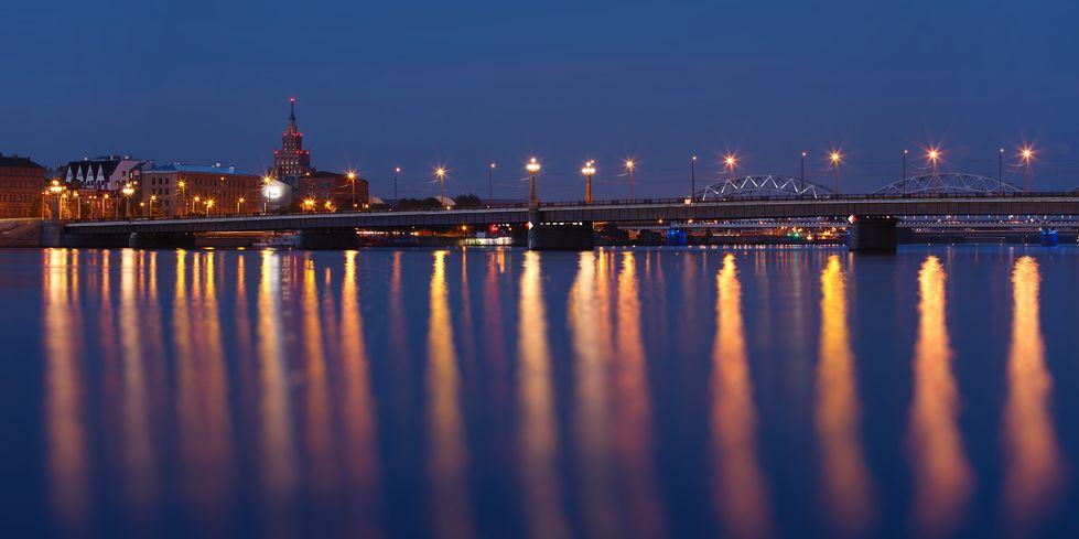 Top 10 things to do in Riga Latvia - Riga CityScape night