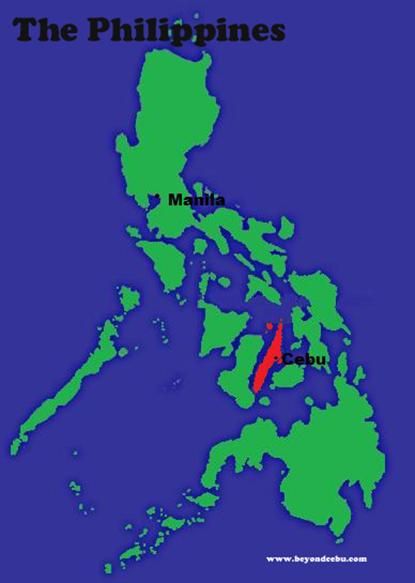Top 5 Tropical Islands of Cebu Philippines - Map of Cebu