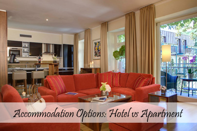 Accommodation Options - Hotel vs Apartment - TN