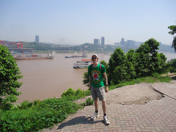 Jonny Blair backpacking in Chongqing China