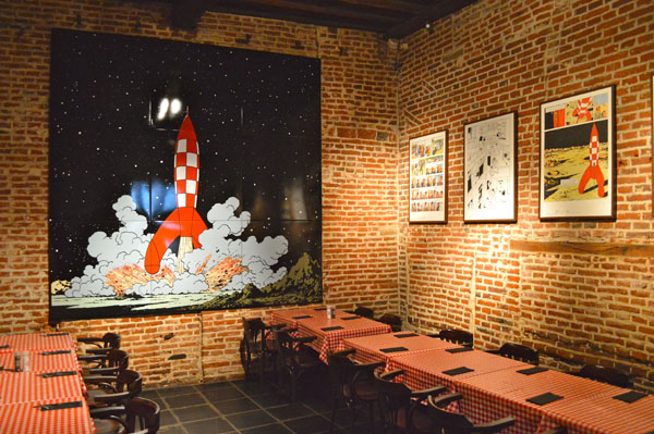 Our Favorite Restaurants in Brussels Belgium - Comics Cafe - 1