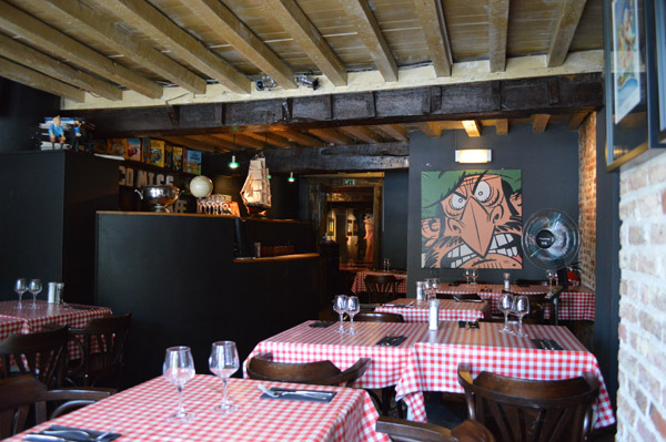 Our Favorite Restaurants in Brussels Belgium - Comics Cafe - 2