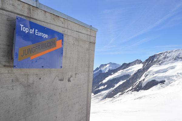 Breathtaking Views of Switzerland from Jungfraujoch (The Top of Europe) - Sign