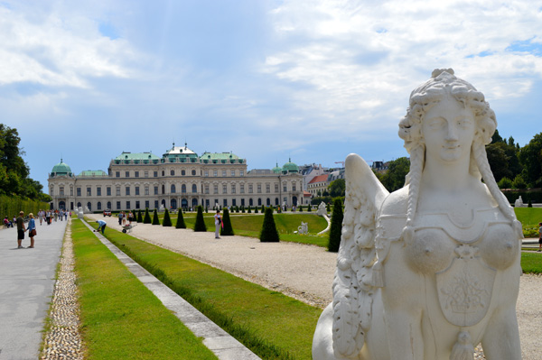 Vienna Photo Post - Statue with Palace in Background