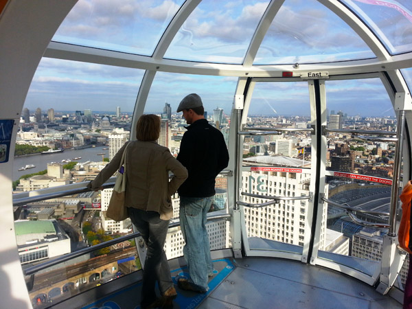 A View From the Top on The London Eye - Cabin