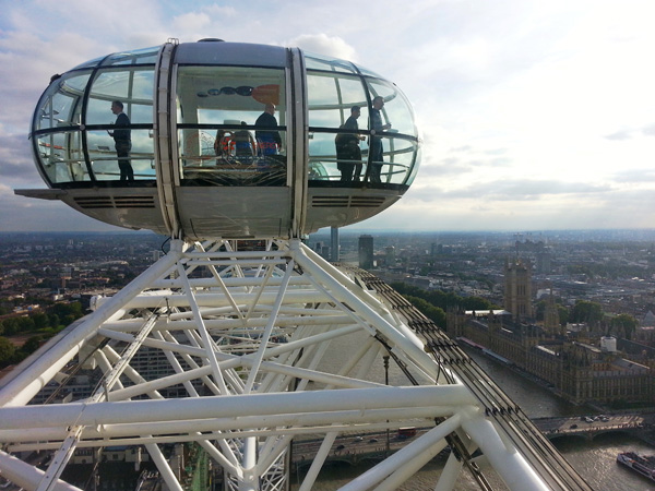 A View From the Top on The London Eye - High Point