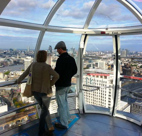 A View From the Top of The London Eye