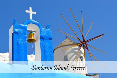 Stunning Santorini - Cover