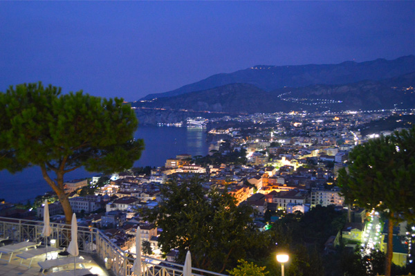 A Drive through Sorrento and the Amalfi Coast - Photo Essay - Night Views of Town