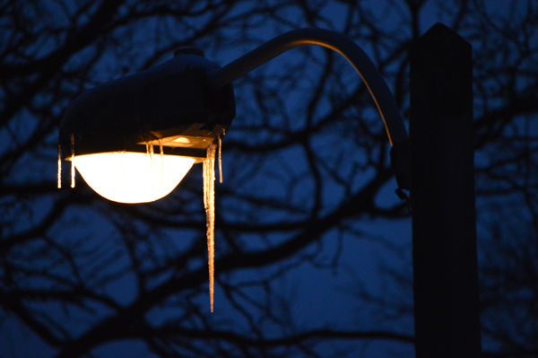 Post Cards from Canada - Ice on lights