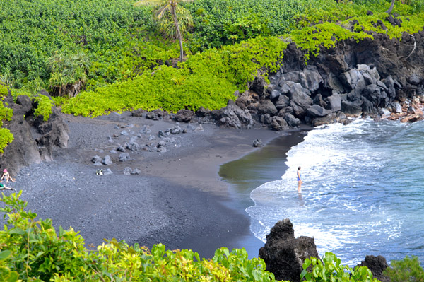 Experience the Journey to Hana with Valley Isle Excursions - Black Sand Beach