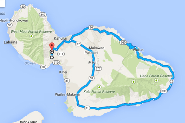 Experience the Journey to Hana with Valley Isle Excursions - Map