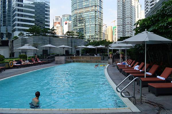 Elegance and Luxury at Conrad Hong Kong - Pool