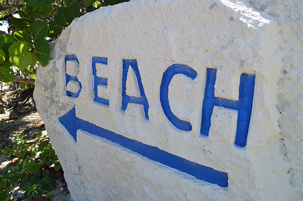Turks and Caicos in Photos - Beach sign