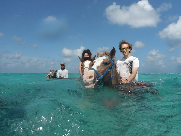 Interview with a Traveler @AJWaltonTravel - AJ Walton - Caymans horse