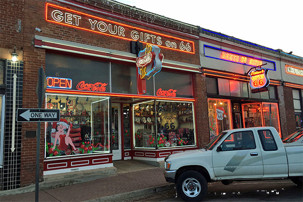 Route 66 - Getting Our Kicks -Gift shop in Williams