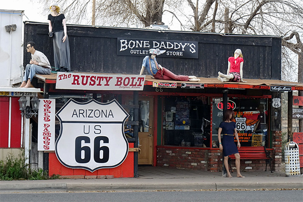 Route 66 - Getting Our Kicks - Tourist shop in Seligman