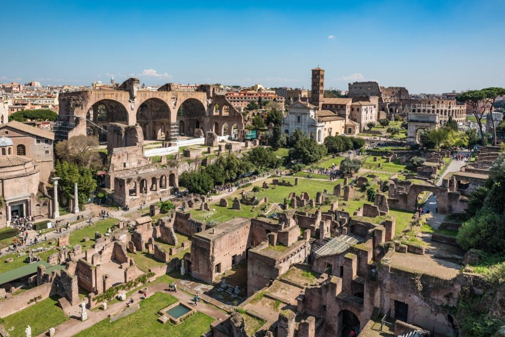 Roman Forum Tour 1 - View from Palatine