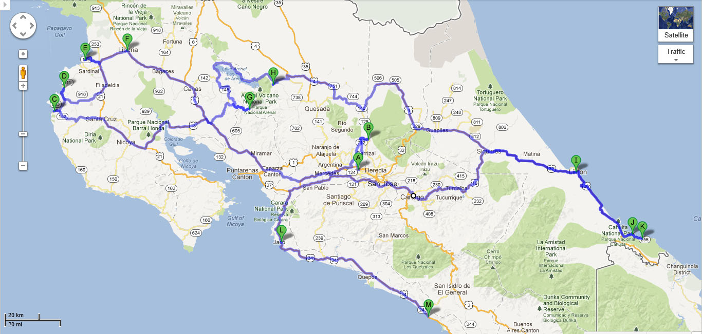costa rica travel map Our Adventurous Road Trip Through Costa Rica Part 1 Suitcase Stories costa rica travel map